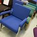 Beech framed fabric waiting room chair E45