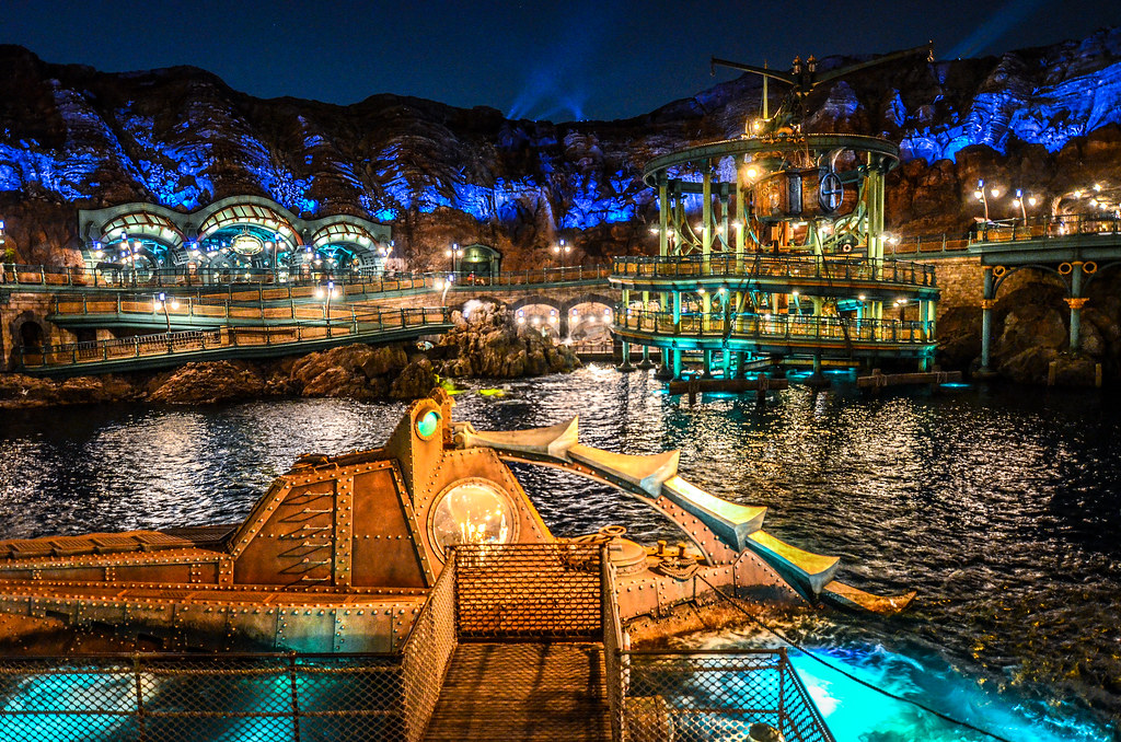 Submarine close Mysterious Island night TDS
