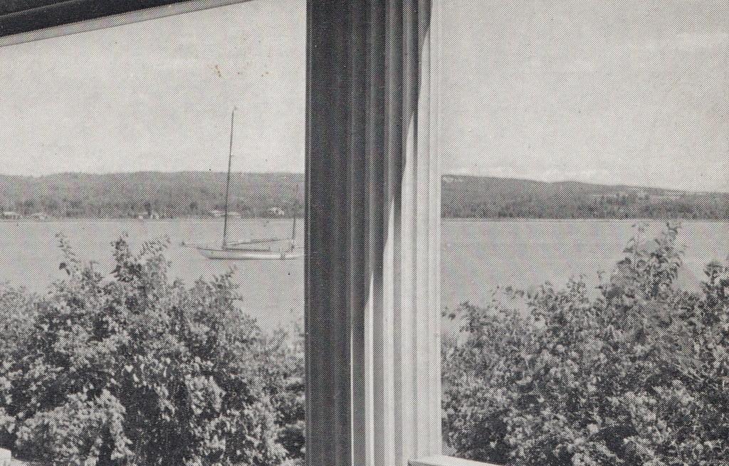 NW Onekama Manistee MI c 1930 VERANDA FRONT PORCH VIEW POR