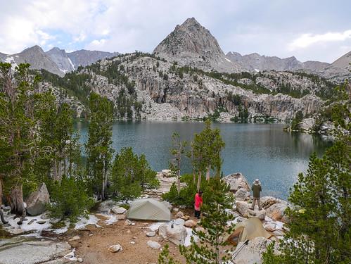 Camp at Lower Lamarck Lake | by snackronym