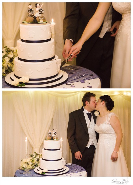 Cutting the Cake and a Romantic Kiss....