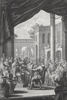 Luke in the Phillip Medhurst Collection 606 The death of Ananias Acts 5:1-6 Füssli engraved by Heuman