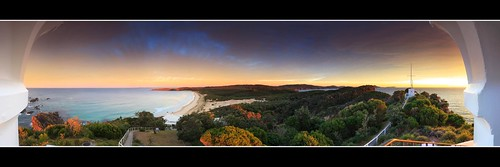 sea panorama lighthouse beach sunrise australia sealrocks sugarloafpoint