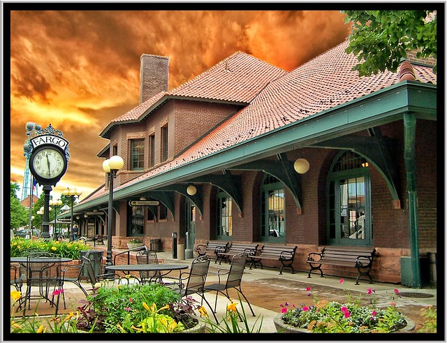 Fargo ~  North Dakota ~  Northern Pacific Railway Depot  ~ Historic