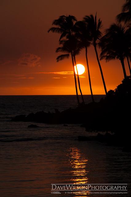 Sunset at Waikoloa, Hawaii