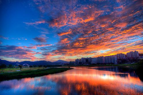 sunset sky night clouds asia korea hdr ulsan koreanphotography pwpartlycloudy