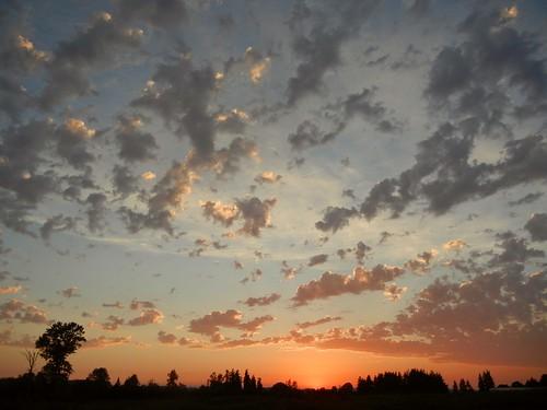 sunset summer clouds washington
