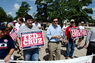 Ted Cruz marching with the KWTP at July 4 parade weeks before his massive win. | by kwtp2012