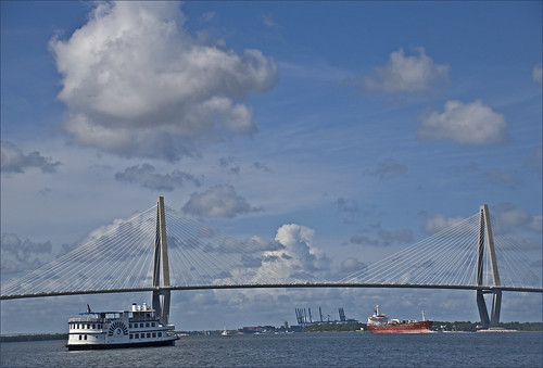 The Arthur Ravenel Jr. Bridge and Charleston Harbor (SC) July 2012 | by Ron Cogswell