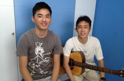 Adult guitar lessons Singapore Wei Chuan