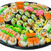 From novice to seasoned sushi pro, there's something for everyone on our 62-piece Assorted Special Tray.16 pieces of Deluxe California Roll 10 pieces of Tempura Shrimp Roll 8 pieces of Spicy Tuna Roll 8 pieces of BBQ Eel Roll 8 pieces of Vegetable Roll 7 pieces of Assorted Nigiri 5 pieces of Inari Sushi