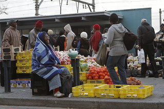 Commuters at the Wynberg Taxi rank in Cape Town on their way home. | by World Bank Photo Collection