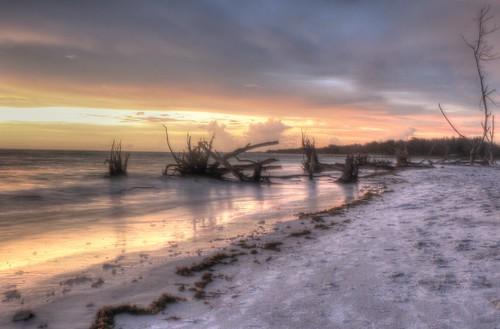 sunset reflection beach water sand florida hdr longboatkey photomatix explored bestofblinkwinners flutterbye216