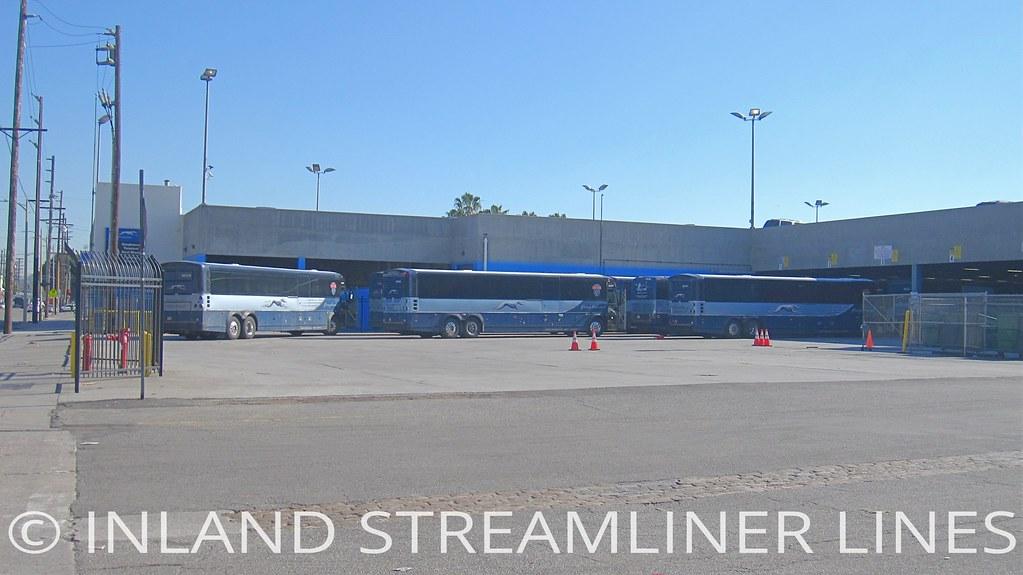 Greyhound D4505s Los Angeles Maintenance Center