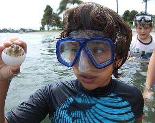 Elias and pufferfish