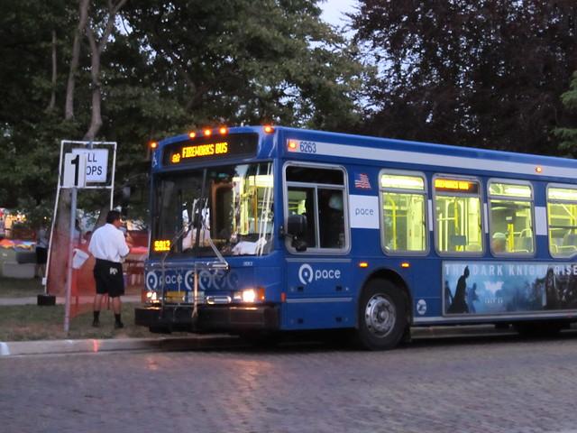 Pace Wilmette Fireworks Shuttle Bus