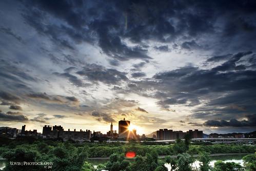 sunrise cityscape taiwan taipei 台灣 台北 日出 yonghe 永和