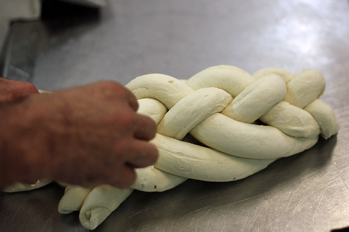 braiding challah bread | by David Lebovitz