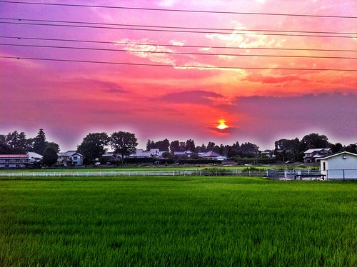 sunset japan photography photo asia flickr picture 日本 tw hdr tsukuba iphone 夕焼け 写真 筑波 つくば iphoneography iphoneographer iphoneonly
