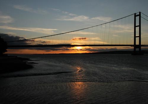 uk sunset england canon landscape lincolnshire humberbridge humber