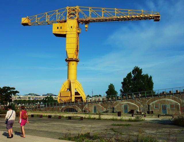 le voyage à Nantes: la grue jaune