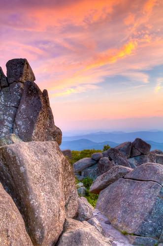 sunset blueridgeparkway sharptop peaksofotter