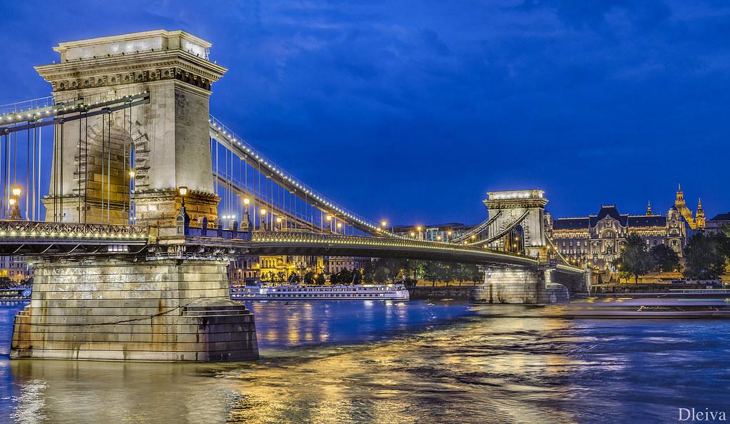 Budapest Vista Clásica Del Puente De Las Cadenas Flickr