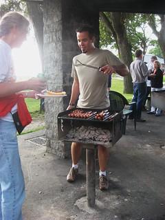 Chris B, grillmaster