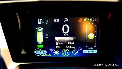 Electric Readout - 2012 Chevrolet Volt Photo
