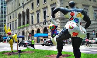 Les Trois Graces: Niki de Saint Phalle on Park Ave
