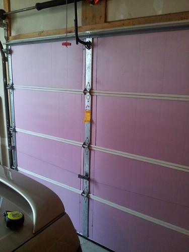Insulated garage door | by Felix Rusu, LowPowerLab.com