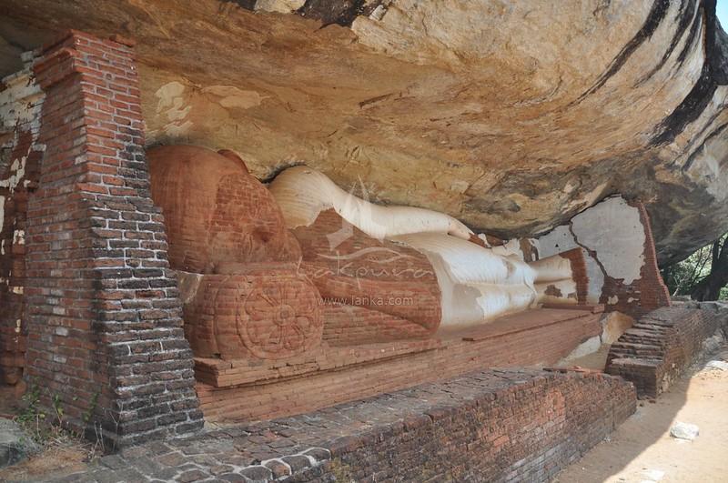 Pidurangala Rock with Ancient Forest Monastery in Sigiriya