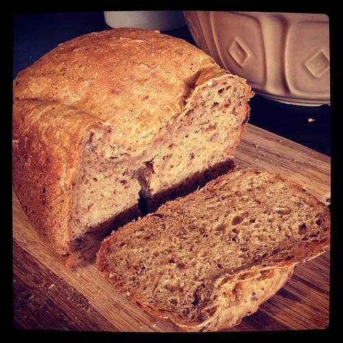 First loaf from the bread maker! :) very tasty! | by Iain Farrell