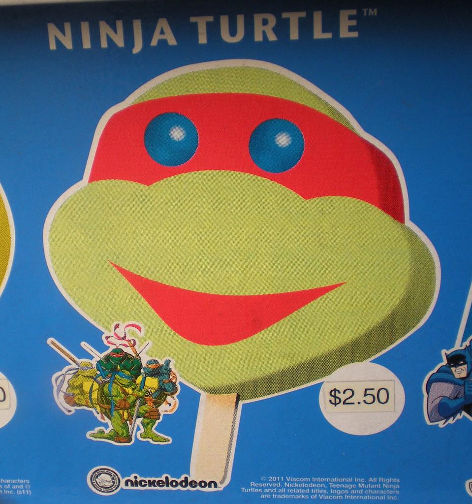 Blue Bunny :: Teenage Mutant Ninja Turtle 'Face' Bars - vendor sticker strip ii (( 2011 )) by tOkKa