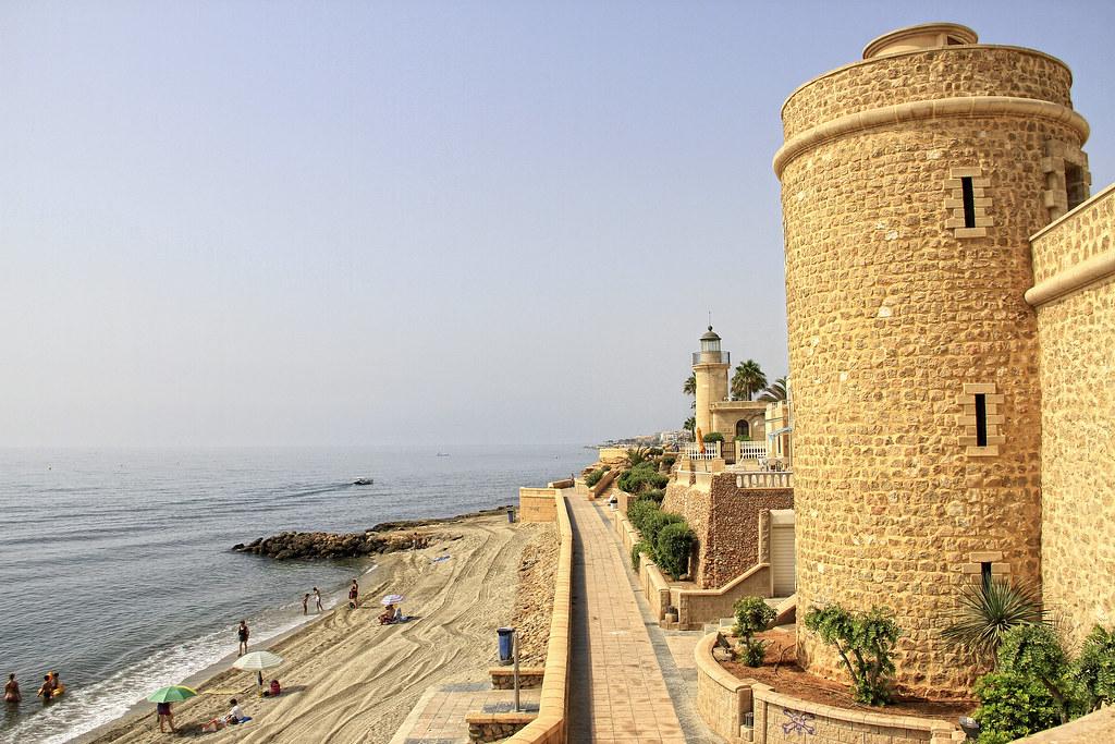 Faro del castillo de Santa Ana. Roquetas de Mar,Almeria.