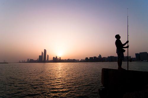 city sea sky sun color reflection water marina sunrise nikon view united horizon capital uae tokina emirates arab corniche rise abu dhabi f28 multi leonid d90 1116mm yaitskiy