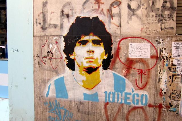 Buenos Aires - La Boca: Diego Maradona