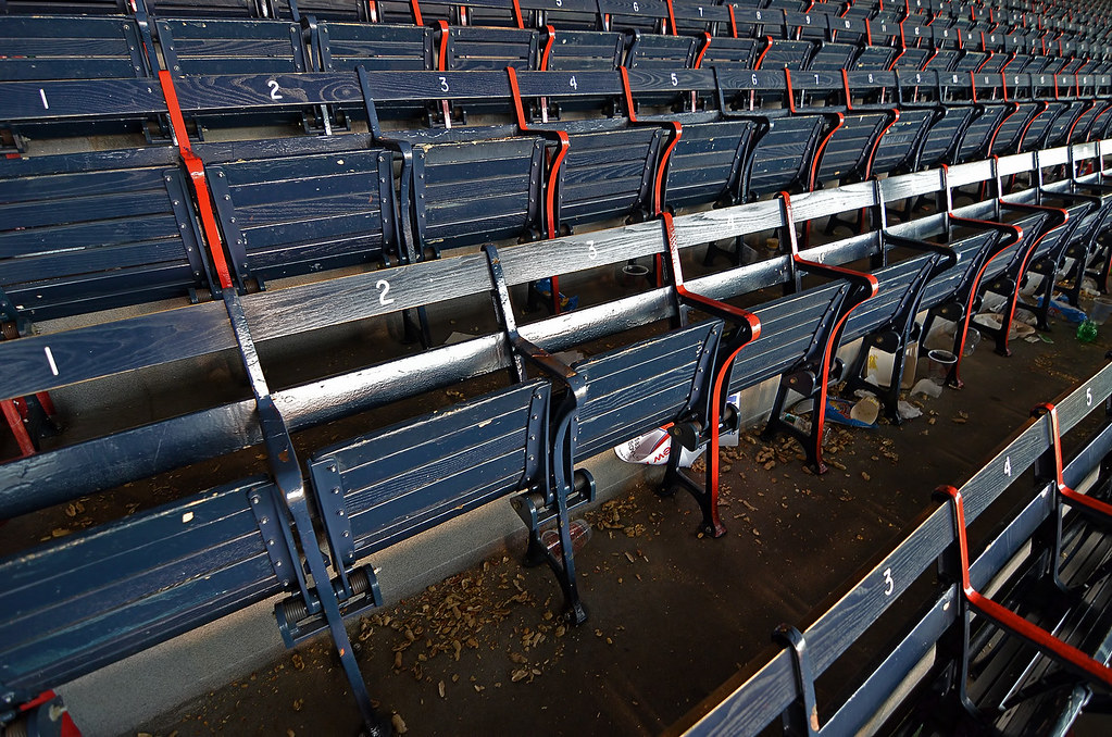 Well-used seats @ Fenway Park - 100 years