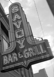 Savoy sign with Bronica ETRSI | by John Mickevich