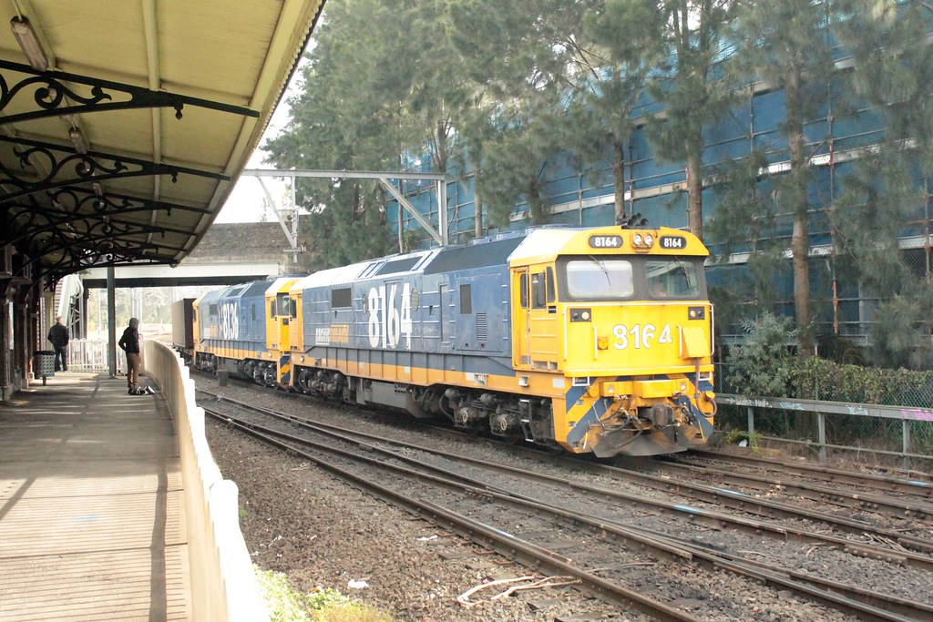 8164+8136 on the Manildra Export Containers at Marrickville by Anthony