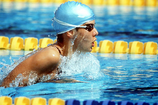 Hungary's Krisztina Egerszegi in action to win the gold medal in the 400m Medley in the 1992 Olympic Games. ©ROH/2012 | by Royal Opera House Covent Garden