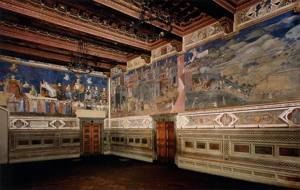 Sala Dei Nove Siena.Lorenzetti A Siena Pal Publico Sala Dei Nove N E Walls