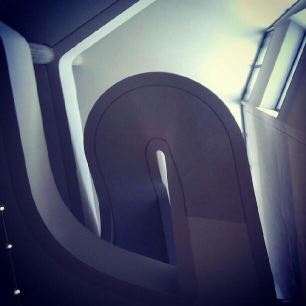 nice stairwell at Guimet museum of asian art in Paris