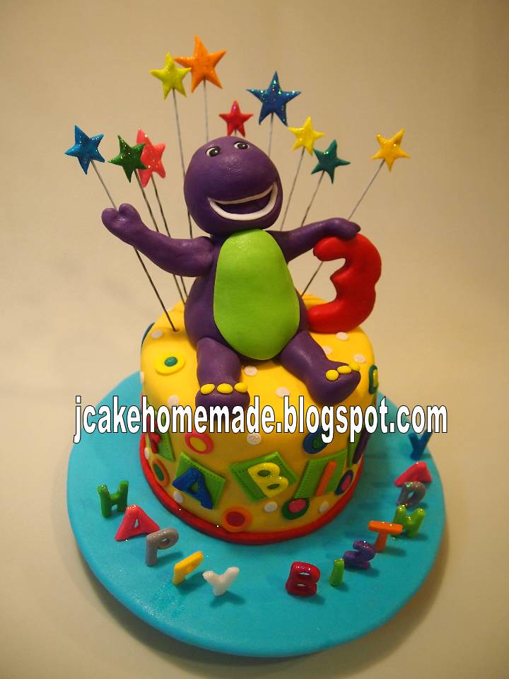 Awe Inspiring Barney Birthday Cake Happy 3Rd Birthday Fabian Fong Thank Flickr Personalised Birthday Cards Cominlily Jamesorg