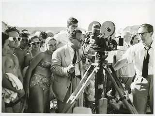 Filmmaker James Fitzpatrick, a camera crew and a crowd of people at Bondi Beach | by Australian National Maritime Museum on The Commons