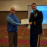 COL Chris Beck Presents a Certificate of Appreciation to Carey Johnson of the KY Division of Water