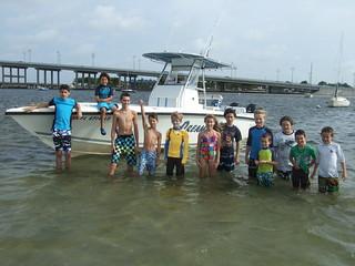 Group photo on the sandbar.