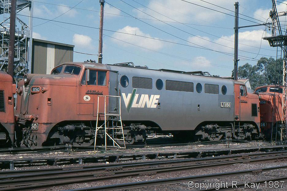 Class leader L-1150 R.G. Wishart at Traralgon Loco Depot by Robert Kay