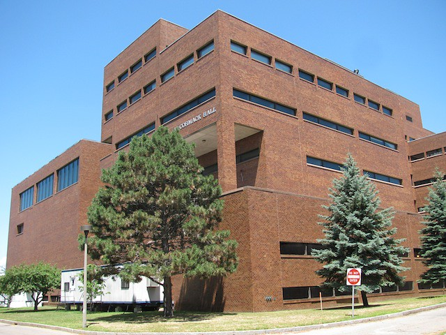 The front of McCormack Hall