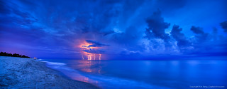 Lightning-Storm-at-Beach-Over-the-Atlantic-Ocean | by Captain Kimo